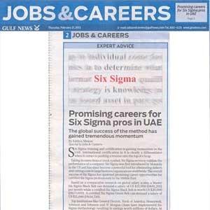 Promising Career Opportunities for Six Sigma Professionals – Six Sigma Training in Dubai, Qatar, Abu Dhabi, Saudi Arabia UAE