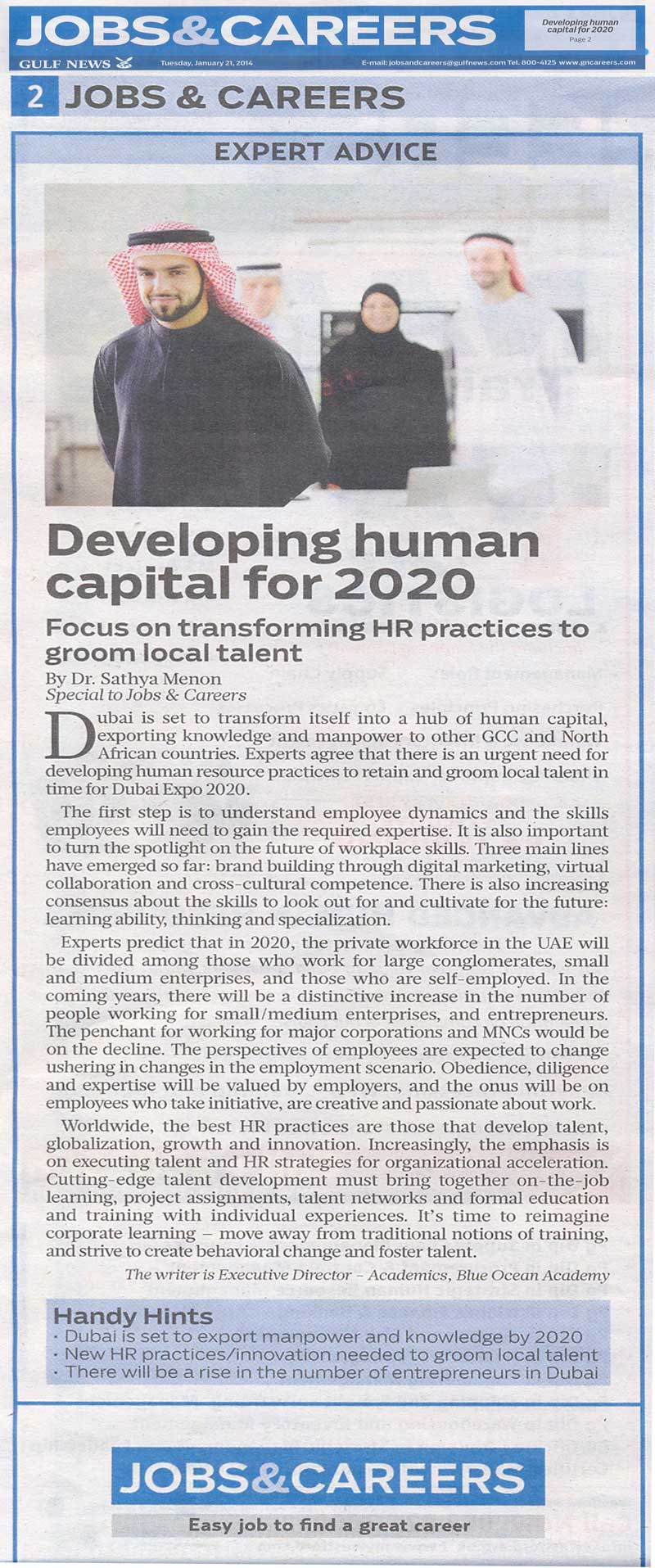 Developing human capital for 2020