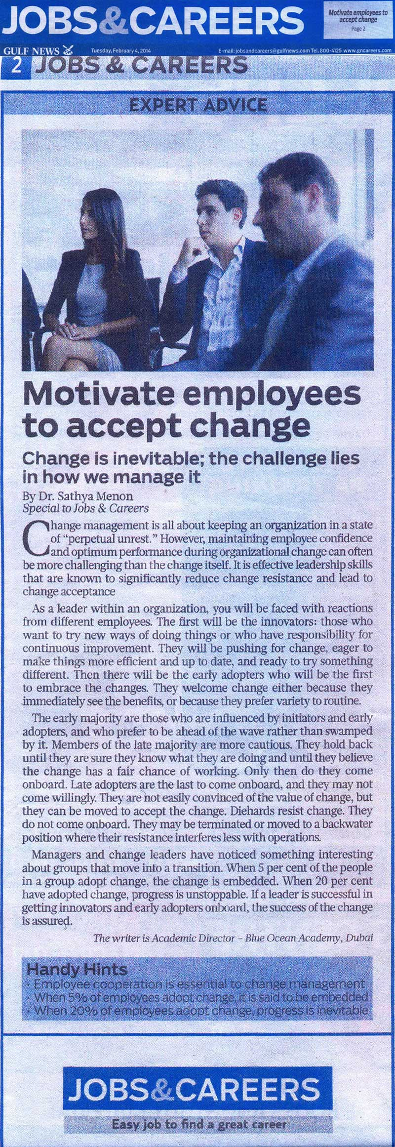 Motivate employees to accept change