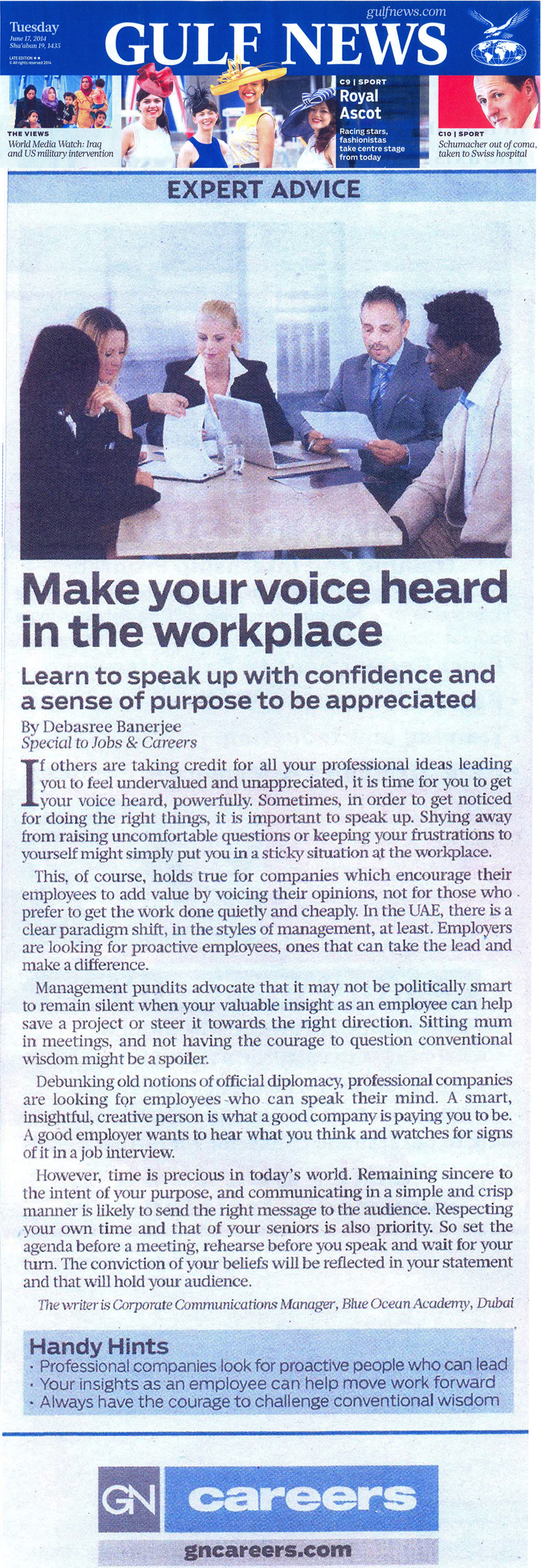 Make your voice heard in the workplace