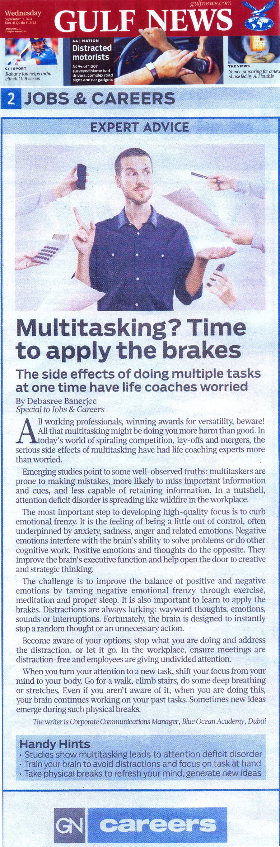 The Side effects of doing multiple tasks at one time have life coaches worried