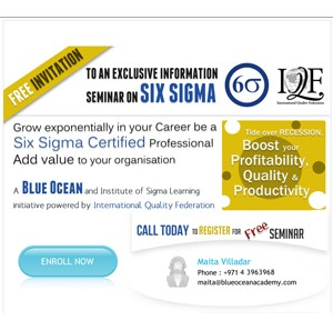 Grow exponentially in your Career be a Six Sigma Certified Professional