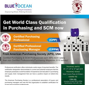 Get World Class Qualification in Purchasing and SCM Now