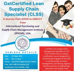 Get Cerified Lean Supply Chain Specialist (CLSS)
