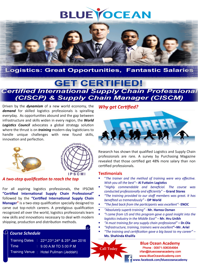 Certified International Supply Chain Professional(CISCP) & Supply Chain Manager (CISCM)