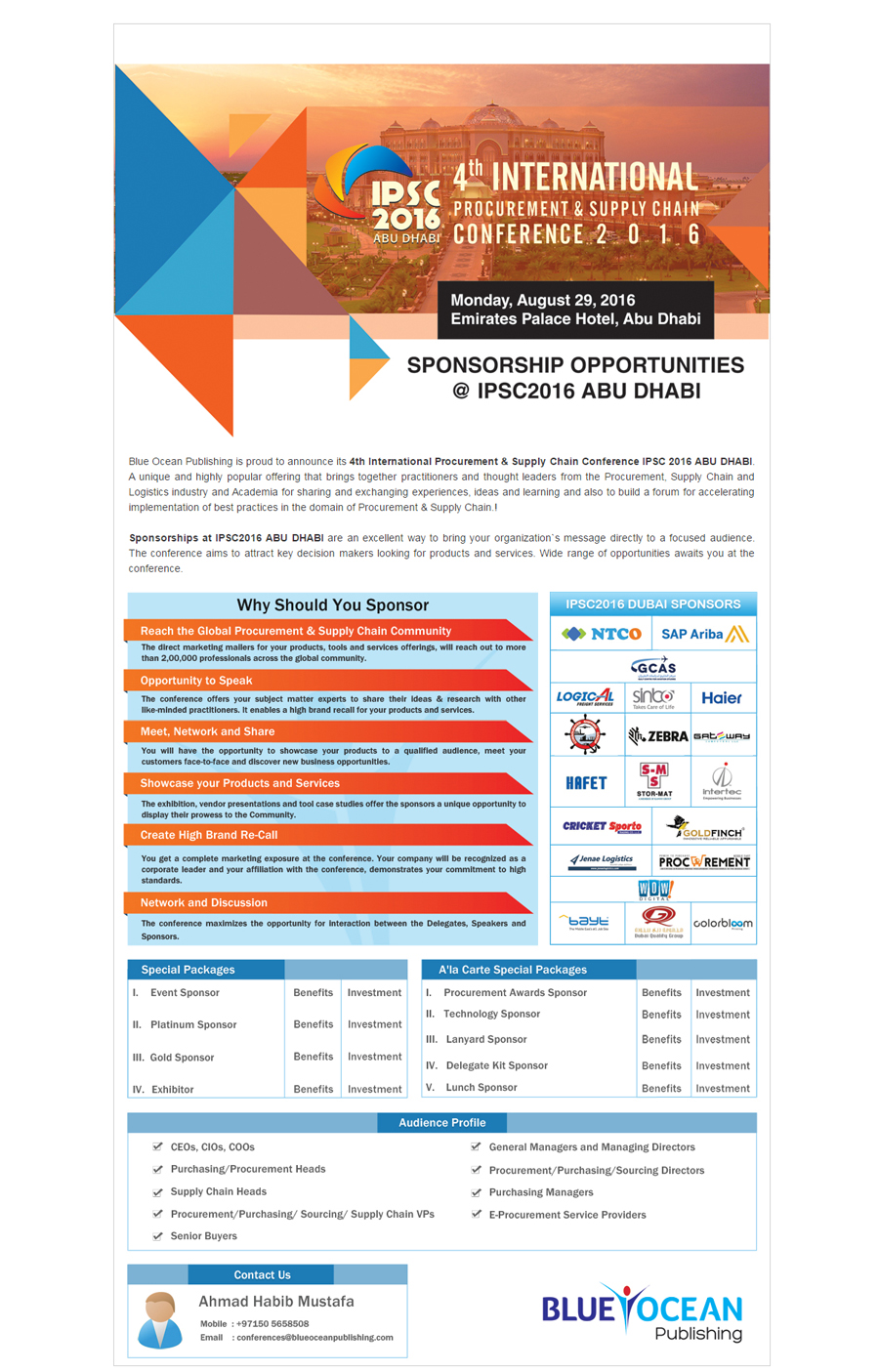 4th International Procurement & Supply Chain Conference 2016(14-06-16)