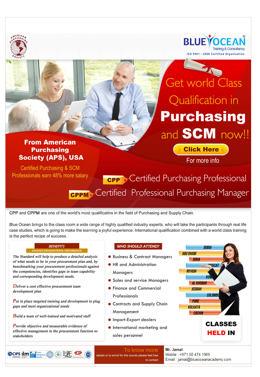Contracts And Supply Chain Management   Blue Ocean Academy