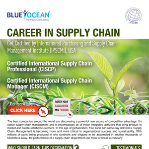 Get Certified by International Purchasing and Supply Chain Management Institute (IPSCMI), USA