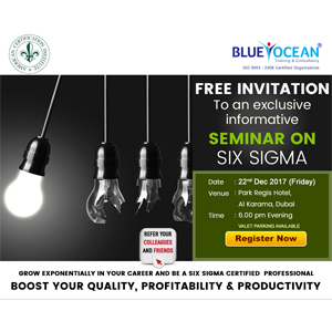 Free Invitation To An Exclusive Information Seminar On Six Sigma