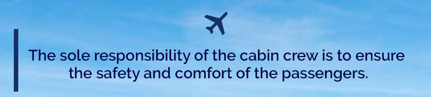 Responsibility of a Cabin crew
