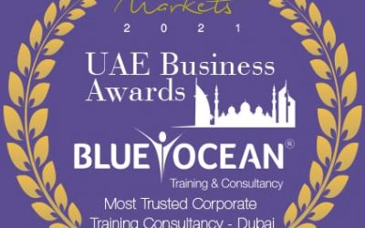 """Blue Ocean Academy receives the """"Most Trusted Corporate Training Consultancy Award – 2021"""""""